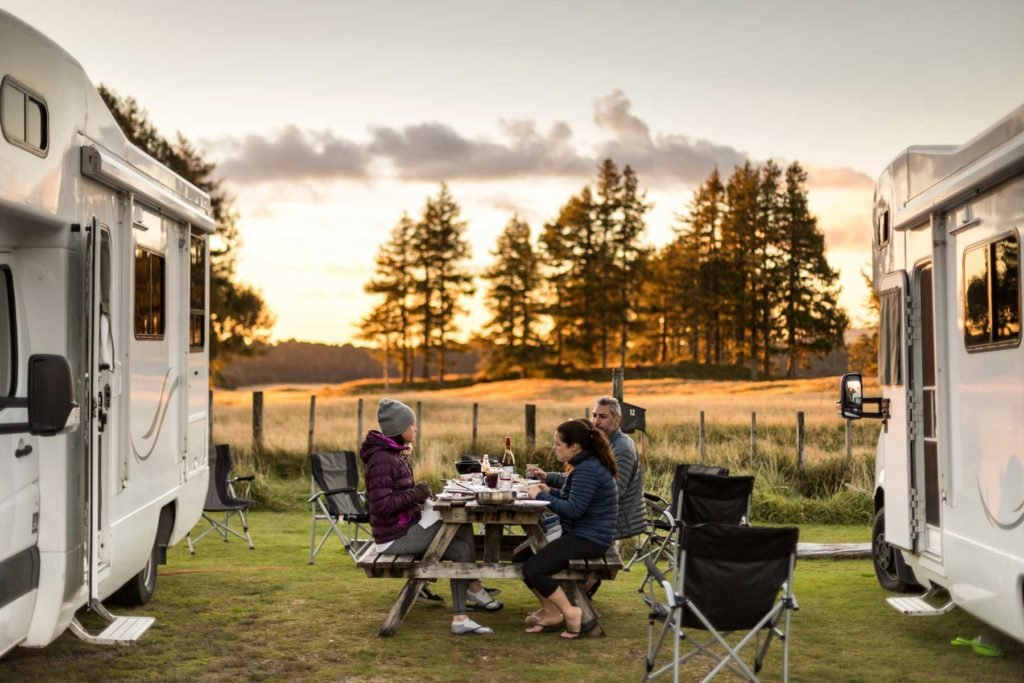 Outdoor dinners are another excellent way to see friends and social distance.