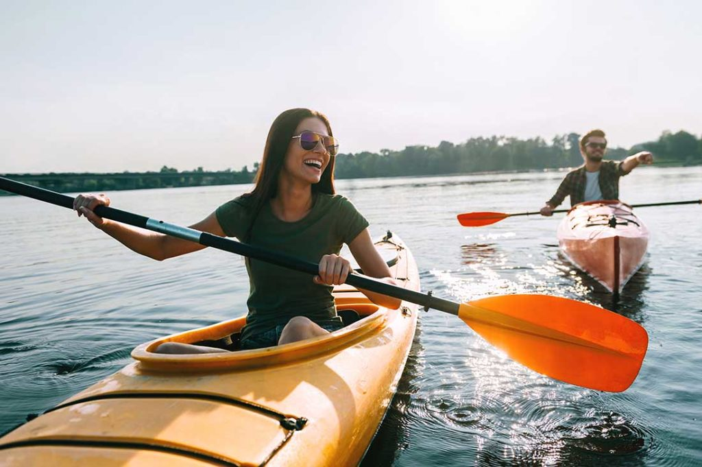 Kayaking and water sports are great ways to enjoy the outdoors while social distancing.