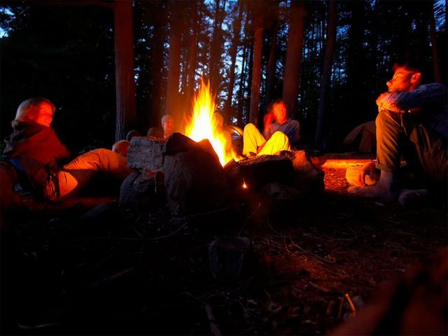 Bonfires outside are a great way to enjoy time with friends while social distancing.