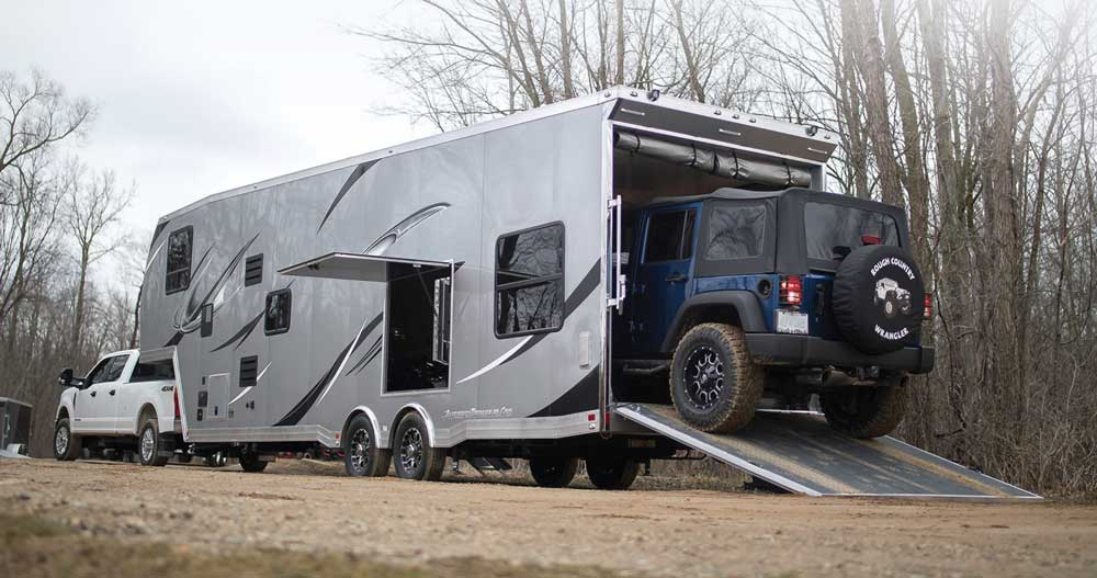 Toy haulers are an excellent choice for those who want both a towable RV and toys on their travels,