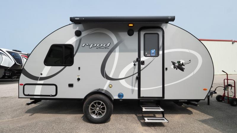 R-pods are great for a small travel trailer RV purchase.
