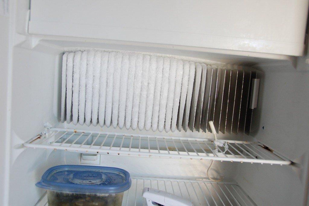Frozen evaporator fins- refrigerator maintenance