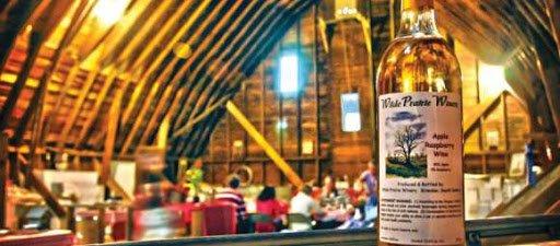 A beautiful body of wine sits inside Wilde Prairie's tasting barn.