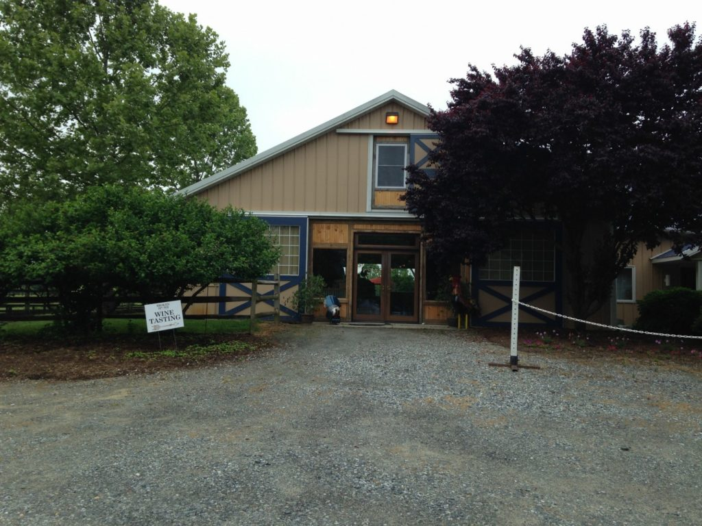 The Sipping Stable is the name of Broken Spoke Winery's tasting room.
