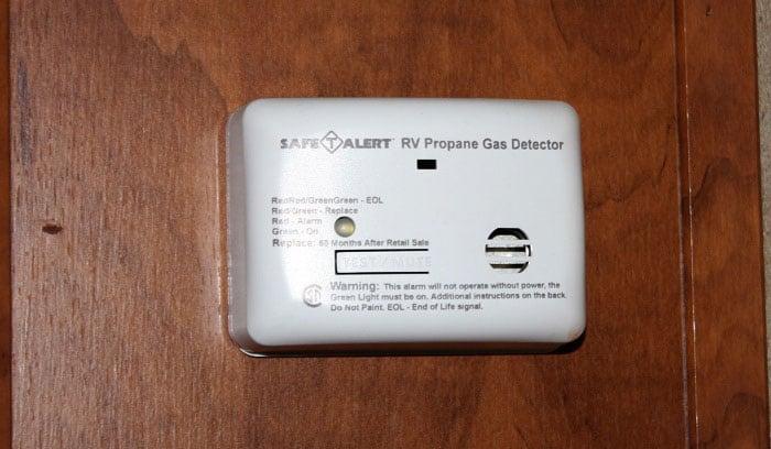 Install a propane leak detector.
