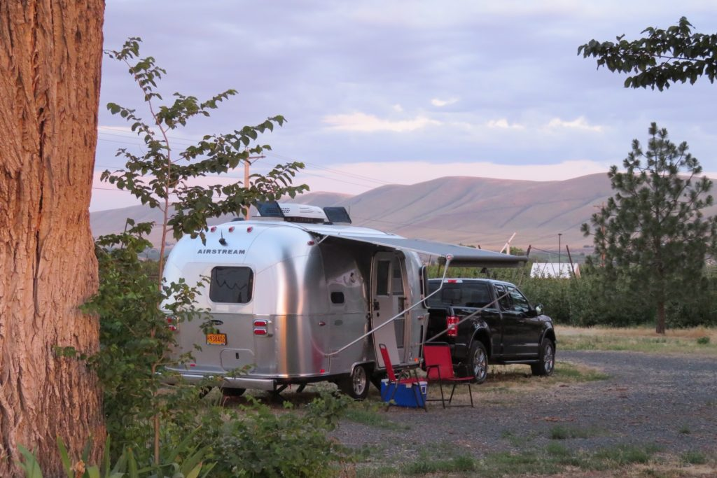 Purple Star Winery hosts an airstream on their beautiful property