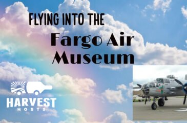 Flying into the Fargo Air Museum