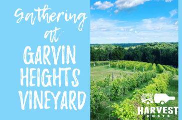 Gathering at Garvin Heights Vineyard