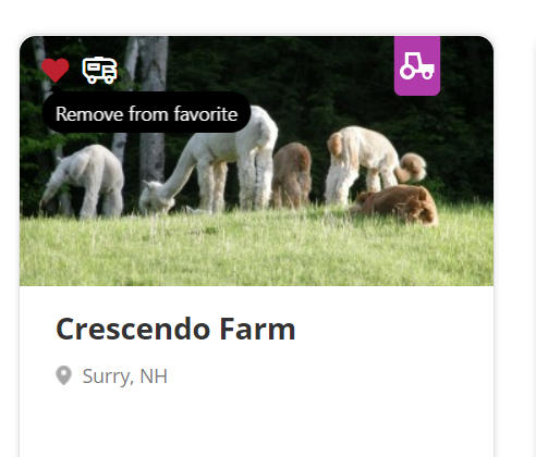 Crescendo Farms is one of the potential stops on our saved trip.