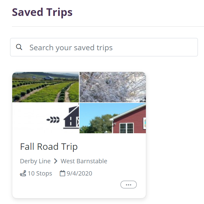 This page details all future saved trips.