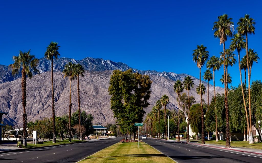 Palm Springs, California is a great place for snowbirds.