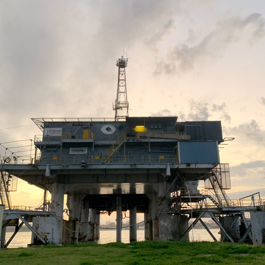 This oil rig museum offers insight into the oil industry of Louisiana.
