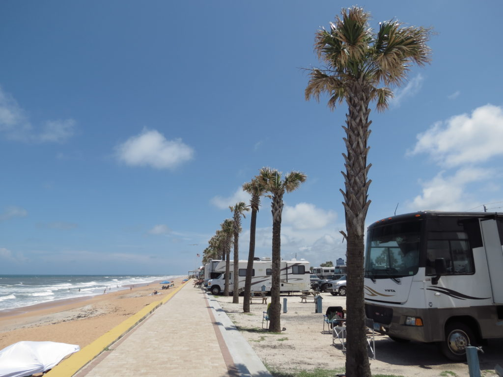 Beverly Beach Camptown RV Resort is one of the best places for Florida beachfront camping.