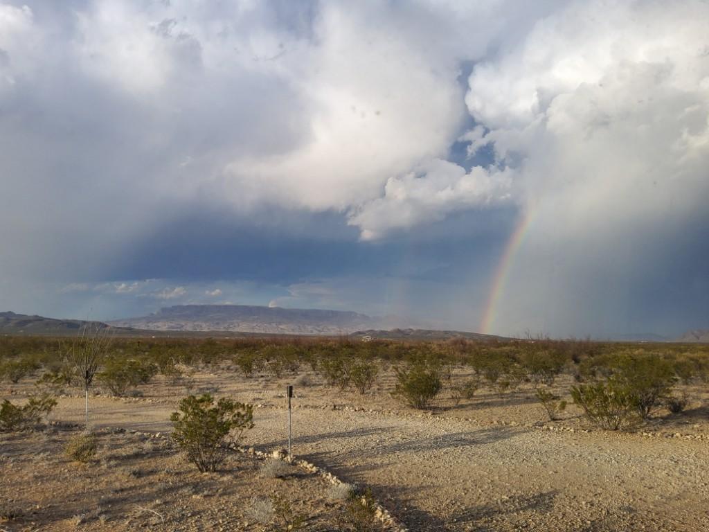 a scenic shot of the desert landscape