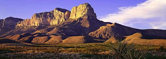 scenic moutain view of guadalupe mountains national park