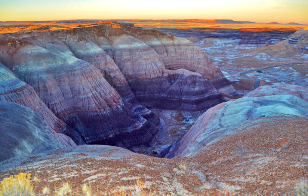 The rippling geology of petrified national forest