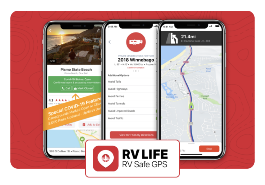 RV LIFE RV SAFE GPS is a great phone app choice for RVs.