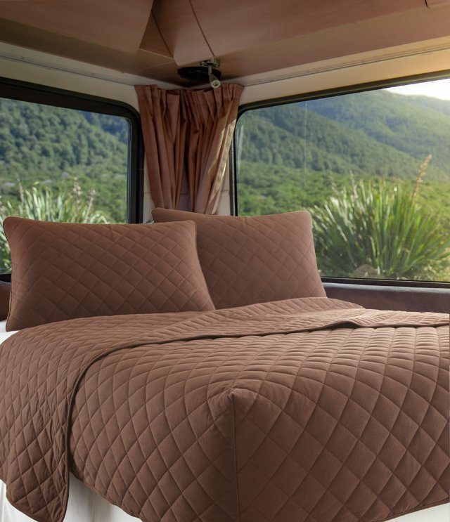 Shavel has a beautiful line of comfy RV bedding available.