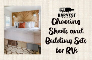 Choosing Sheets and Bedding Sets for RVs