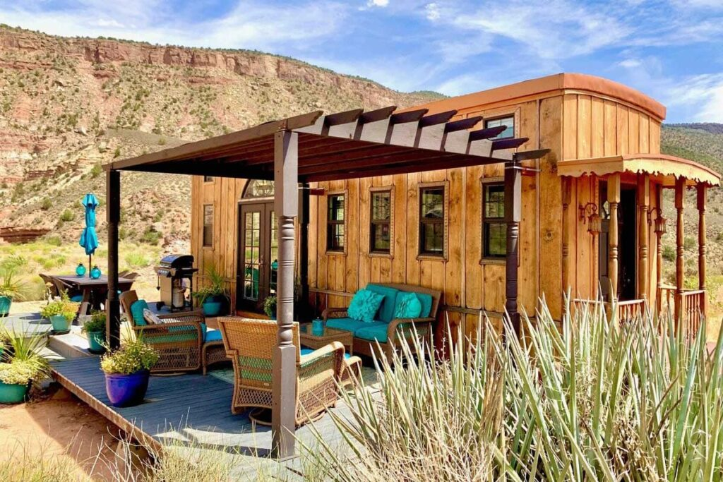 This beautiful AirBnB location is located right near Zion National Park.