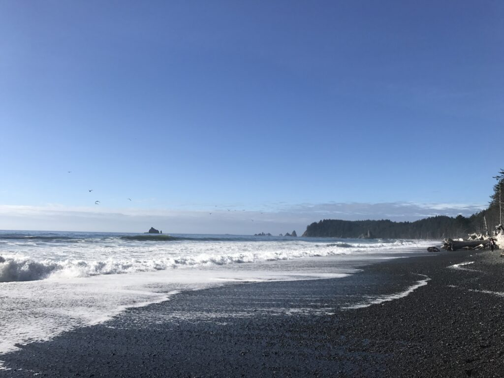 Rialto Beach is a great place to visit for rest and relaxation.