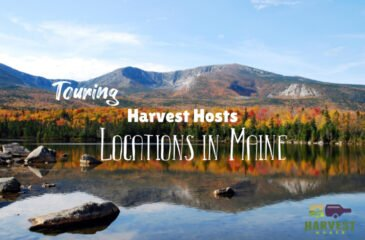 Touring Harvest Hosts Locations in Maine