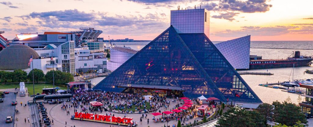 Rock and Roll Hall of Fame is an awesome tourist location in the Cleveland metro area.