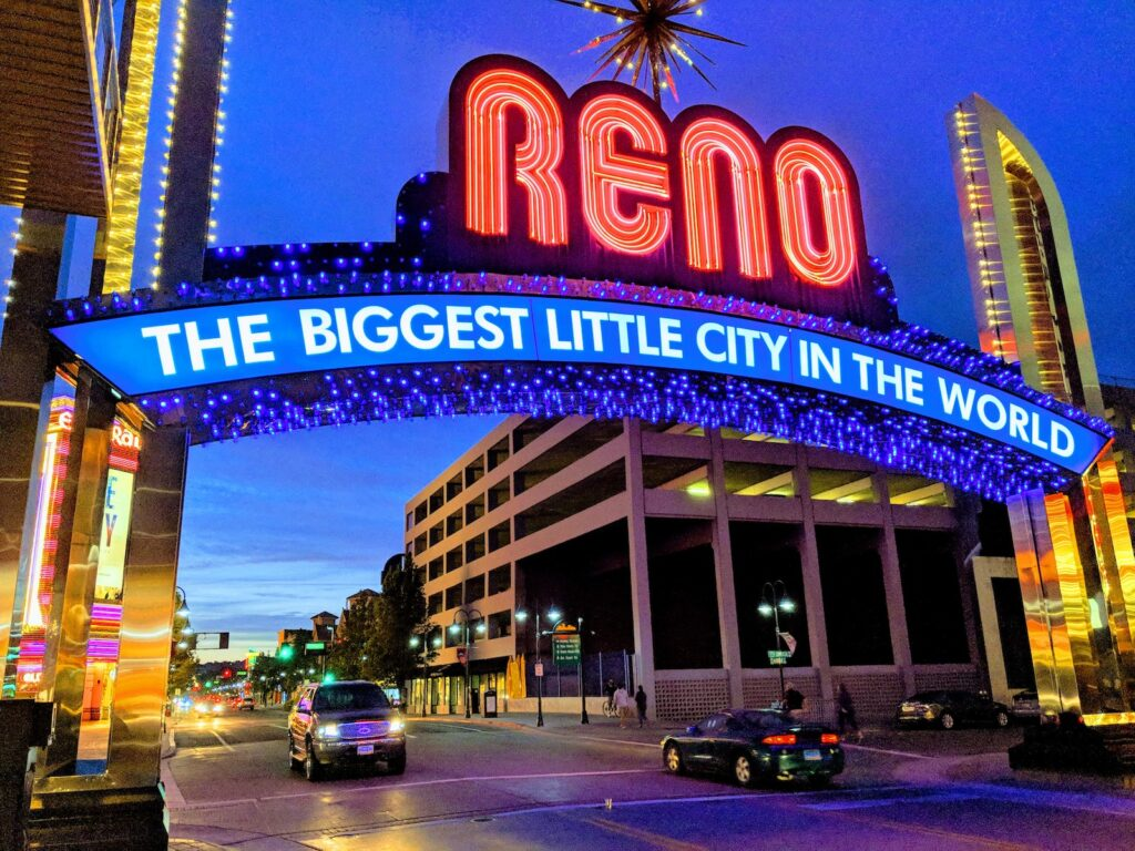 Reno is a spectacular stop in the American southwest.