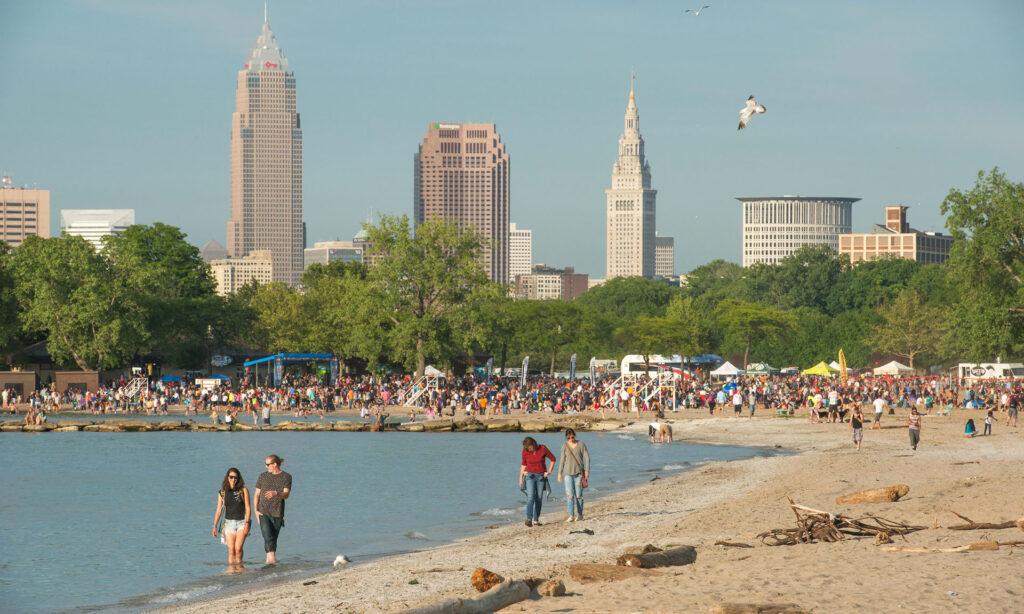 Cleveland Metroparks waterfront is an awesome tourist location in the Cleveland metro area.