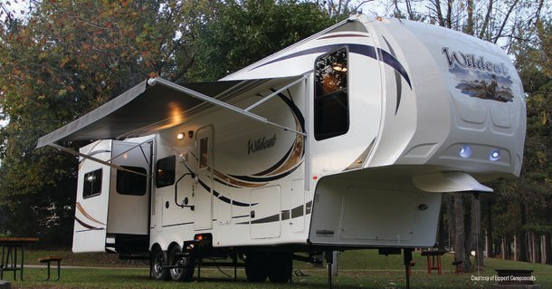 Perform a full inspection of the RV's exterior.