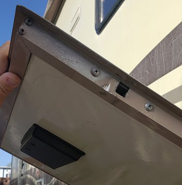 If your RV compartment doors get stuck or won't stay shut, the latches are likely broken.
