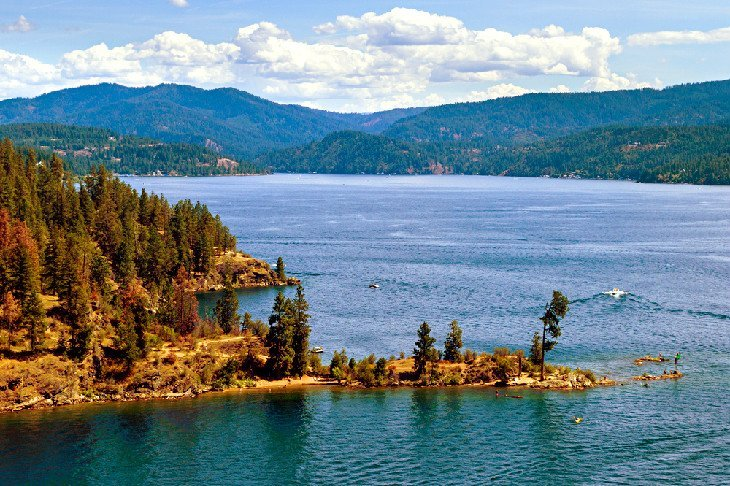 Couer D'Alene is an excellent vacation destination on the Idaho Panhandle.