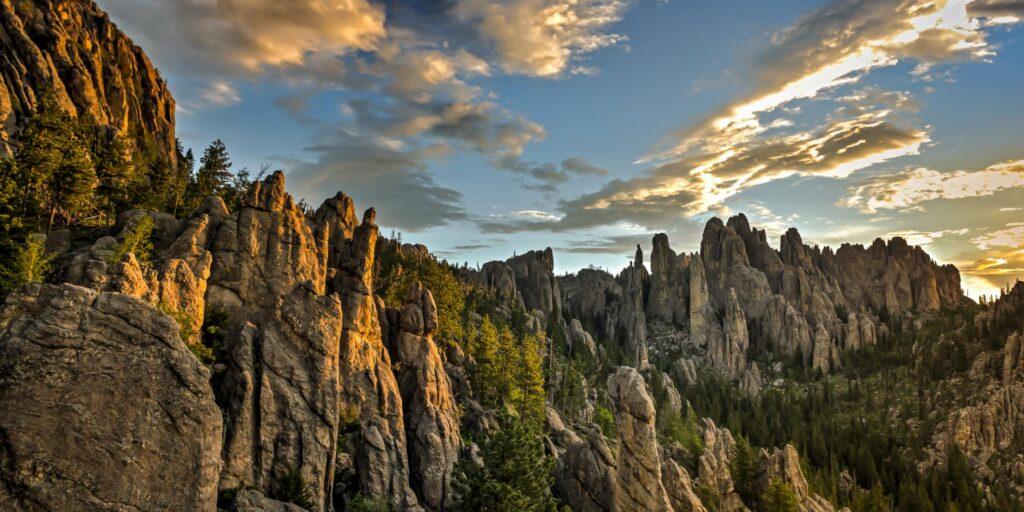 The Black Hills region of South Dakota is an iconic American road trip destination.