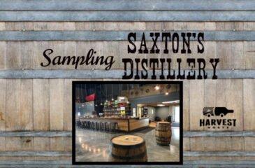Sampling Saxton's Distillery