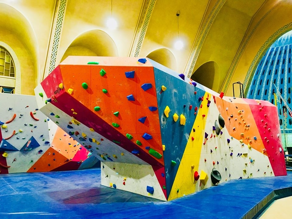 Beta Crux Escalade Rock Climbing Gym is a great place to practice climbing on the road.