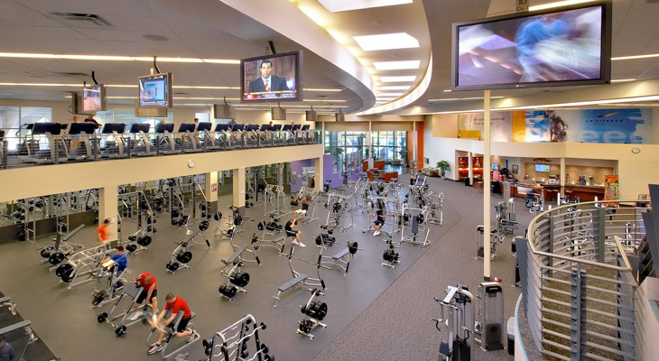 LA Fitness is an awesome gym for maintaining your fitness on the road.