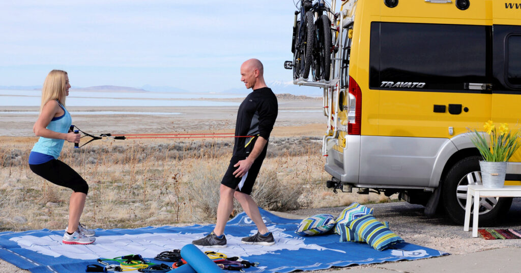 It's totally possible to stay fit while on the road in an RV.