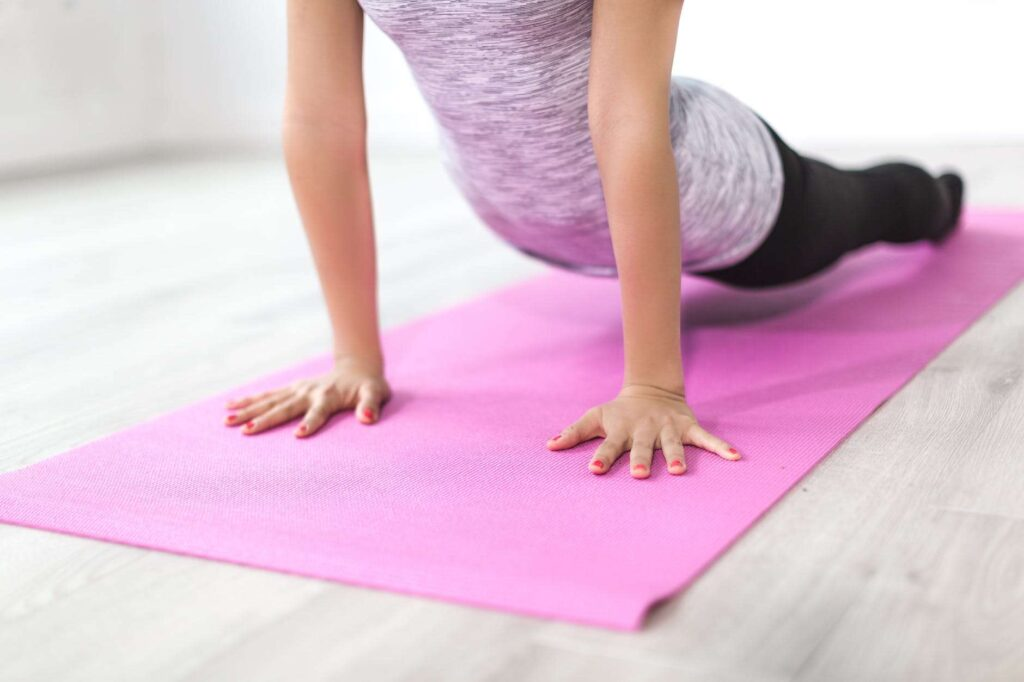 Yoga mats are a great tool for staying fit on the road.